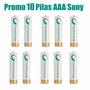 10 Pilas Sony Aaa Oro Recargables 5 Blis X 2u Boedo