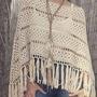 Poncho Ruana Capa Tejido A Mano Crochet Varios Modelos