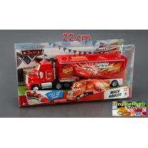 Cars Camión Mack Con Acoplado 22 Cm 100% Mattel