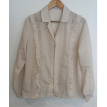 Blusa Camisa Islence Color Beige Talle 52