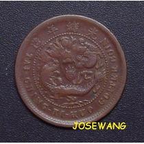 10 Cash, Moneda Antigua De China Del Año 1906 Origina