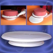 Set Reposteria Bandeja Giratoria Parpen 30cm + Corta Torta