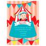 Invitacion Tarjetas 13x18 Foto Primer Año Cumple Bebe Circo