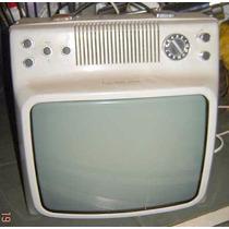 Tv Noblex Blanco Y Negr Funciona Impec Diseño Retro Vintage+