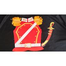 Disfraces Patrios Disfraz Soldado Realista Rojo Con Sable