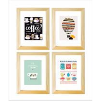 2 Cuadritos Box 13x18 Cocina Frases Ilustraciones +de 400