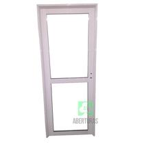 Puerta Aluminio Blanco Vidrio Entero Con Parante 70x200