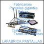 Pantalla Gigante Estruct 4.00x3.00 Con Tela Front,back 10990