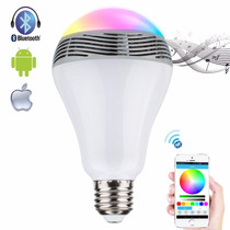 Lámpara Led Rgbw Bluetooth Parlante Cambia Colores