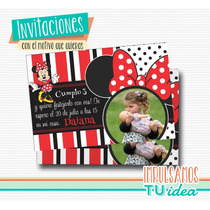 Minnie - Invitación Minnie Roja Para Imprimir