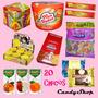 Combo .de Golosinas .para 20 Chicos Candybar + Jugos Baggio