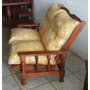 Sillon Reclinable De Algarrobo 2 Cpos -con Almohadones