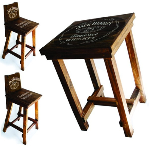 Juego mesa meson 4 bancos madera recicla jack - Imagenes de bancos de madera ...