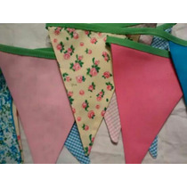 Banderines De Tela Doble Faz - Shabby Chic