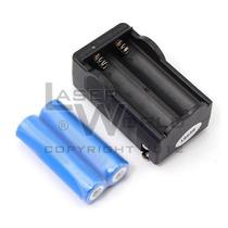 2 Pilas Batería 18650 Recargable 3.7v 2000mah Cargador Doble