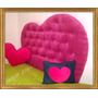 Respaldo Cama Sommier Corazon. Baul Butacon Puff Vs Colores