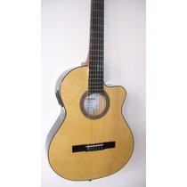 Guitarra Electrocriolla Con Corte Y Ecualizador 4b Afinador
