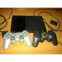 Playstation 2 Slim Ps2 + 2 Joystick + Guitarra Y 42 Juegos