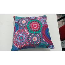 Almohadon Decorativo- Mandala- Mano De Fatima- Tela Import