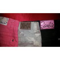 Lote 3 Shorts Pantalon Cort Talle 8 10. Varios Barbie Mimo