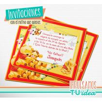 Winnie Pooh Bebe - Tarjetita Para Imprimir