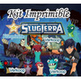 Kit Imprimible Bajo Terra Slug Terra + Candy Bar Tarjetas Ar