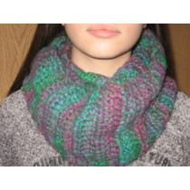 Bufanda Circular Infinita Al Crochet Lana Primera Calidad