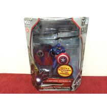 Muñeco Capitán América Volador Helicóptero Radio Controlado.