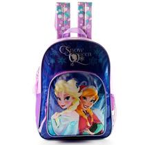 Mochila Escolar Frozen Violeta 16 Pulgadas Disney