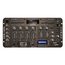 Consola Dj 4 Canales + Usb + Lcd Reproductor Mp3 C/ Display