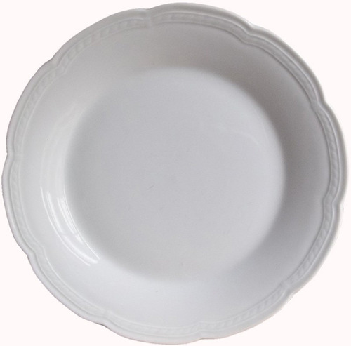 12 platos playos 25 cm porcelana tsuji linea 1800 docena for Platos porcelana