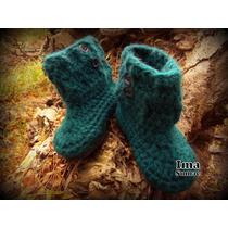 Pantuflas De Lana Crochet Artesanal Para Los Mas Pequeños
