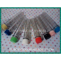 Tubos Plasticos Ensayo Golosineros Souvenirs