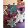 Copos De Nieve,decoración Torta Y Cupcakes Frozen Pastillaje