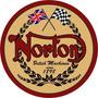 Carteles Vintage Antiguos Chapa 28cm Moto Norton Mot-18