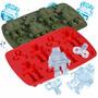 Molde Para Hielo Cubetera Robots Silicona