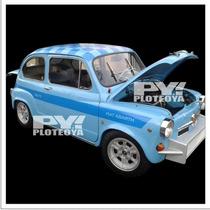 Calco Franja Fiat 600 Abarth 850 Tc Calcomania Ploteoya!