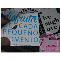 Etiqueta Autoadhesivas Frases Transparentes