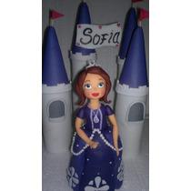 Adorno De Torta Princesa Sofia Porcelana Fria
