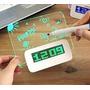 Reloj Despertador Digital Pizarra Magica Led Con Lapiz