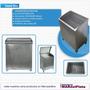 Sauna Seco Acero Inox 6kw Completo Con Kit De Accesorios