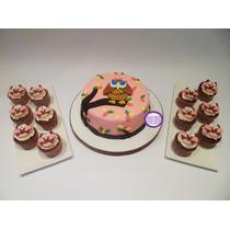 Promoción! Torta Buho De 2 Kg + 18 Cupcakes Temáticos