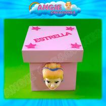 5 Cajitas Princesas Disney Souvenirs Apliques Porcelana Fria