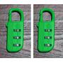 2 Candados Samsonite 3 Combinaciones - Verde Fluo Excelente