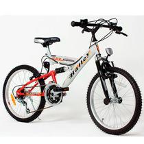 Bicicleta Mountain Bike 18v D/suspencion Rod 20 Halley 16335