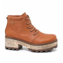 Borcegos Con Plataforma Bota Zapato 100 % Cuero Urban Cueros