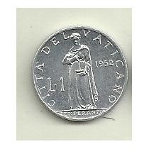 Moneda Vaticano 1 Lira Año 1952 Pio Xii Sin Circular