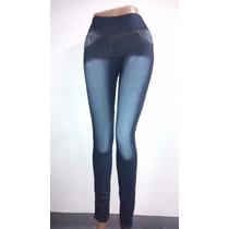 Calza Leggins Tipo Jeans Para Dama Tiro Alto