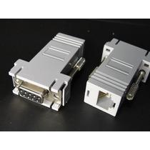 Adaptador De Cable Serial Db9 Hembra Rs232 A Cable Utp Rj45