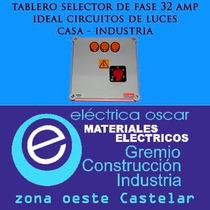Tablero Selector De Fase Llave 32 Amp Casas Industria Luces